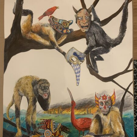 """Monkeys. """"Masc4Mask"""" by Andrés Silva Vignoli"""